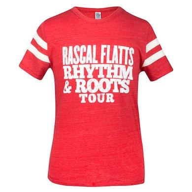 Rascal Flatts Rhythm & Roots Red Football T-Shirt