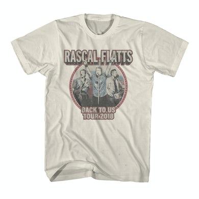 Rascal Flatts Back to Us Tour Natural Dateback T-Shirt