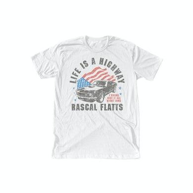 Rascal Flatts Life is a Highway Flag T-Shirt