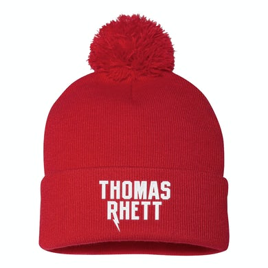 Thomas Rhett Logo Red Pom Beanie
