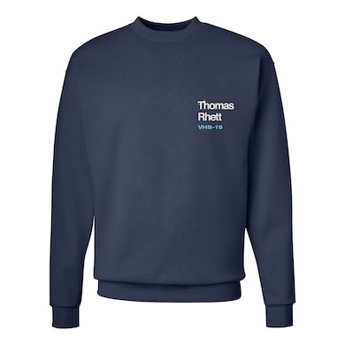 Thomas Rhett Navy VHS Dateback Fleece Crew