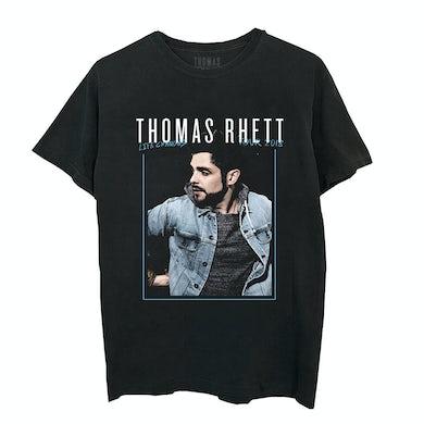 Thomas Rhett Framed Photo Tour Dateback Black T-Shirt