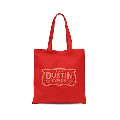 Dustin Lynch Emblem Red Tote