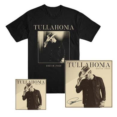 Dustin Lynch Tullahoma T-shirt, CD or Download, and Signed Lithograph Bundle