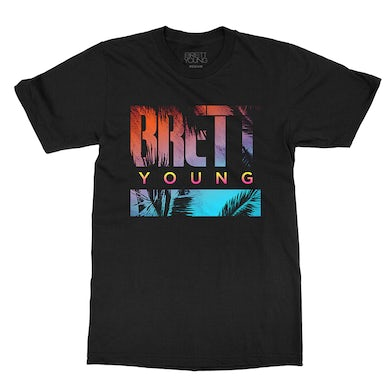 Brett Young Ombre Palm Dateback T-shirt