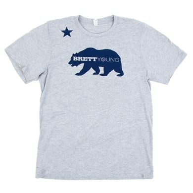 Brett Young California Bear Heather Grey T-Shirt