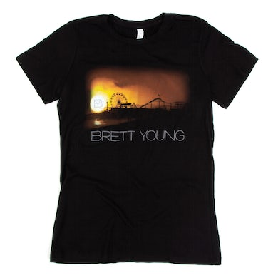 Brett Young Ladies Pier Black T-Shirt
