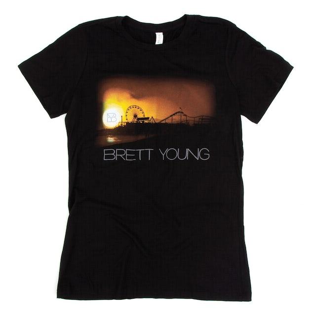 Brett Young Ladies Pier Black T-Shirt
