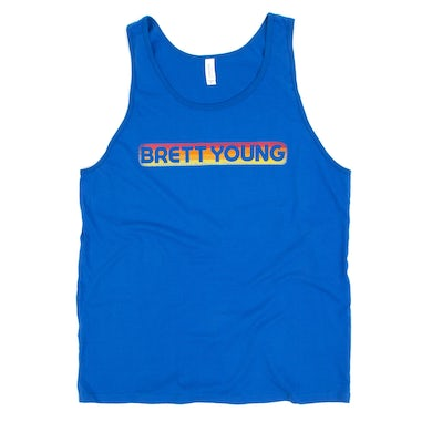 Brett Young Retro Blue BY Logo Tank Top