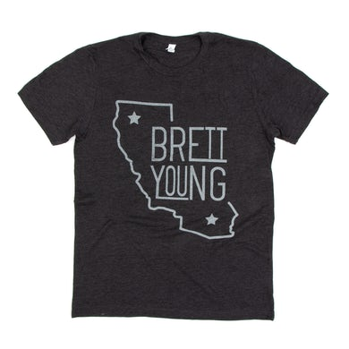 Brett Young Grey California T-Shirt