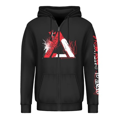 Chaos Collage Zip Up Hoodie