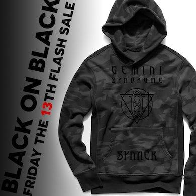 Gemini Syndrome Black on Black Alchemy Hoodie