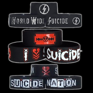 """Davey Suicide 3 Pack of 1"""" Wristbands"""