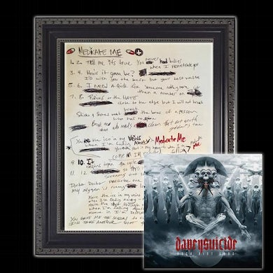 Davey Suicide The ORIGINAL Handwritten Song Lyrics from the ROCK AINT DEAD Album (3 Songs Left) (Vinyl)