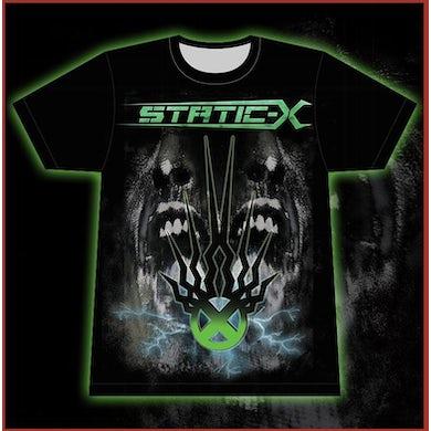 Static-X Green Shock Symbol - T-Shirt