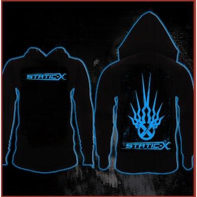 Static-X Shock Symbol Zip Up Hoodie