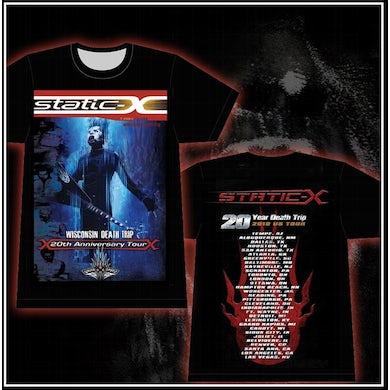 Static-X Xero Guitar Tee With Tour Dates