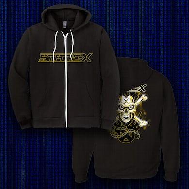 Static-X Yellow Skull Zip-Up Hoodies