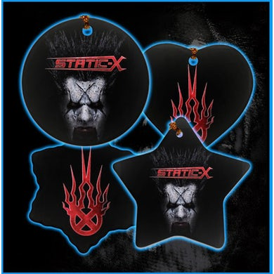 Static-X Xero Mask Two-Sided Porcelain Ornaments