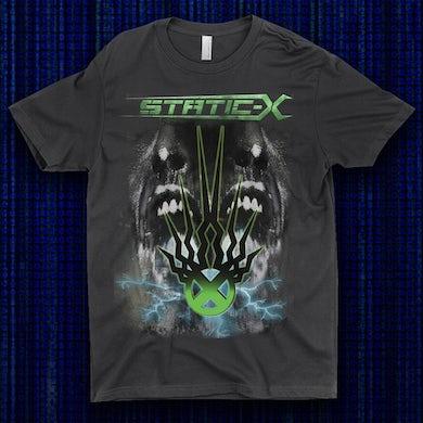 Static-X Green Shock Symbol Shirts