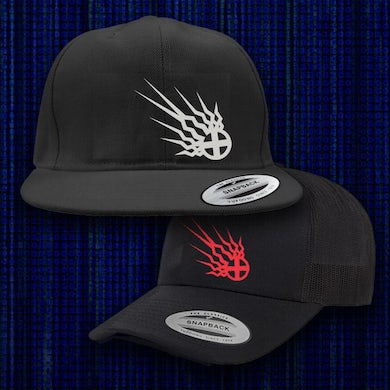 Static-X Shock Symbol Embroidered Hats