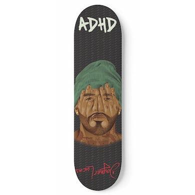 Joyner Lucas ADHD Green Beanie Skate Deck