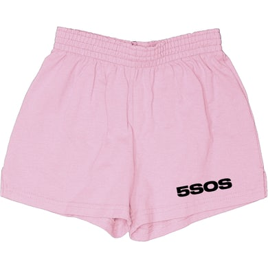 5 Seconds Of Summer PINK LOGO SHORTS