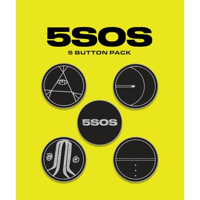 5 Seconds Of Summer SYMBOLS BUTTON PACK