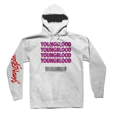 348b84874 5 Seconds Of Summer WHITE YOUNGBLOOD HOODIE