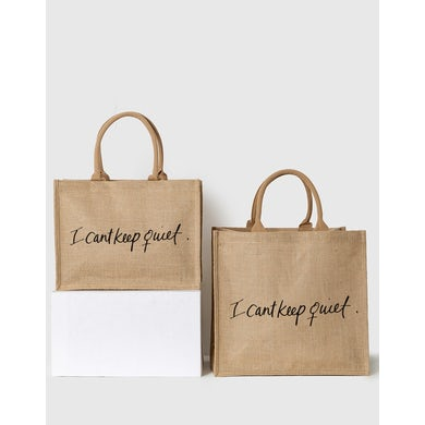PURPOSEfull TOTE - I CAN'T KEEP QUIET