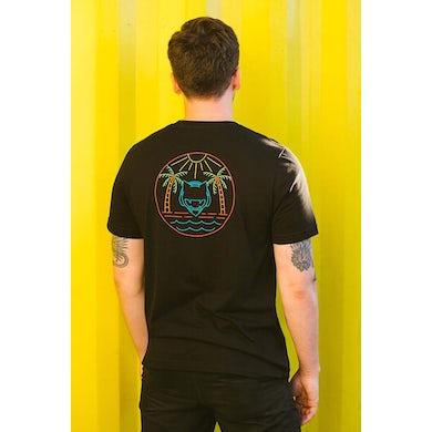 Monstercat Black Neon Tropical Graphic Tee