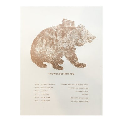 TWDY Anniversary Tour Bear Poster
