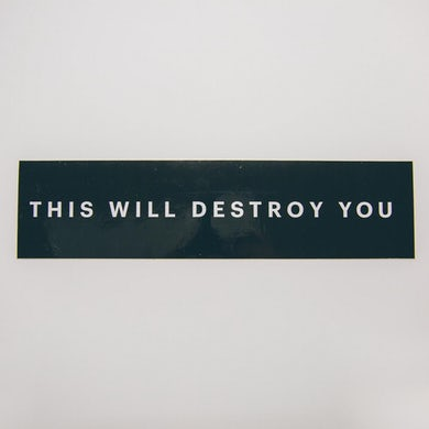 This Will Destroy You TWDY Bumper Sticker