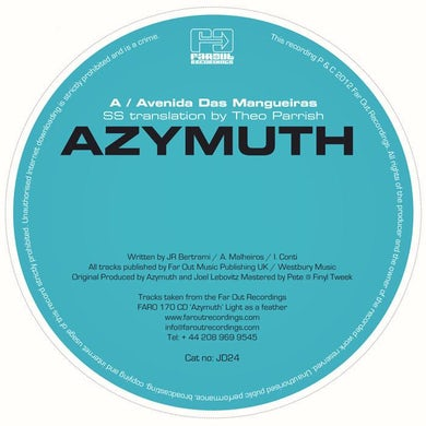 Azymuth - Avenidas Das Mangueiras (SS Translation By Theo Parrish) [2012]