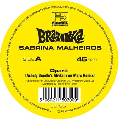 Opará (Ashley Beedle's Afrikanz On Mars Remixes) [2015]