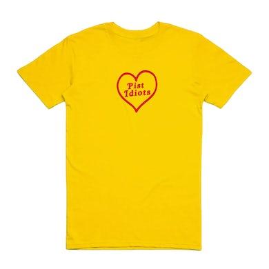 Pist Idiots  Yellow Heart Tee