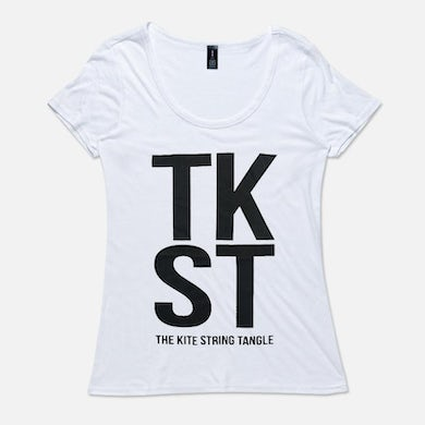 The Kite String Tangle TKST (Womens White Tee)