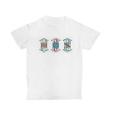 Middle Kids White Playing Cards Tee