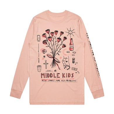 Middle Kids PALE PINK DECONSTRUCTED LONG SLEEVE
