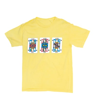 Middle Kids Yellow Playing Cards Tee