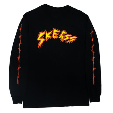 Skegss Black Barbed Wire Long Sleeve