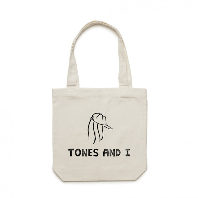 Tones And I Logo Canvas Tote (White)