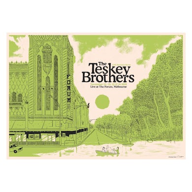 The Teskey Brothers The Forum, Melbourne Poster (A2)