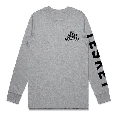 The Teskey Brothers Logo Womens Longsleeve (Grey Marle)