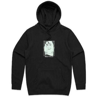 Ruby Fields Anime Hoodie (Black with Glow In The Dark Print)
