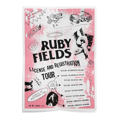 Ruby Fields License and Registration Tour Poster