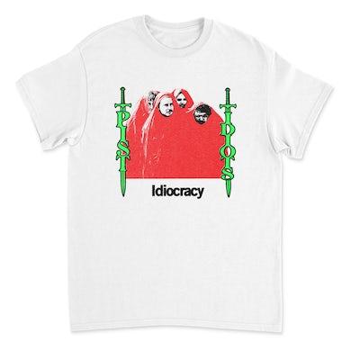 Pist Idiots  Idiocracy Album Tee (White)
