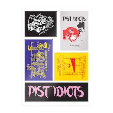 Pist Idiots  A4 Sticker Sheet