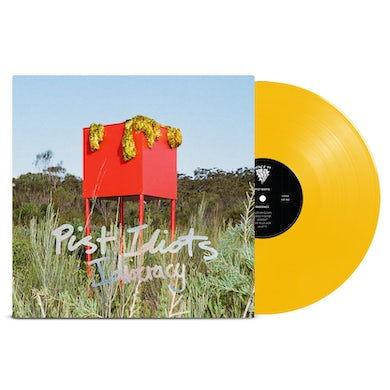 """Pist Idiots  Idiocracy Limited Edition 12"""" Vinyl (Yellow - Space 44 x Flightless Records Exclusive)"""