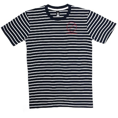 Silent Planet Striped Tee Embroidered Logo Tee (Navy/White)